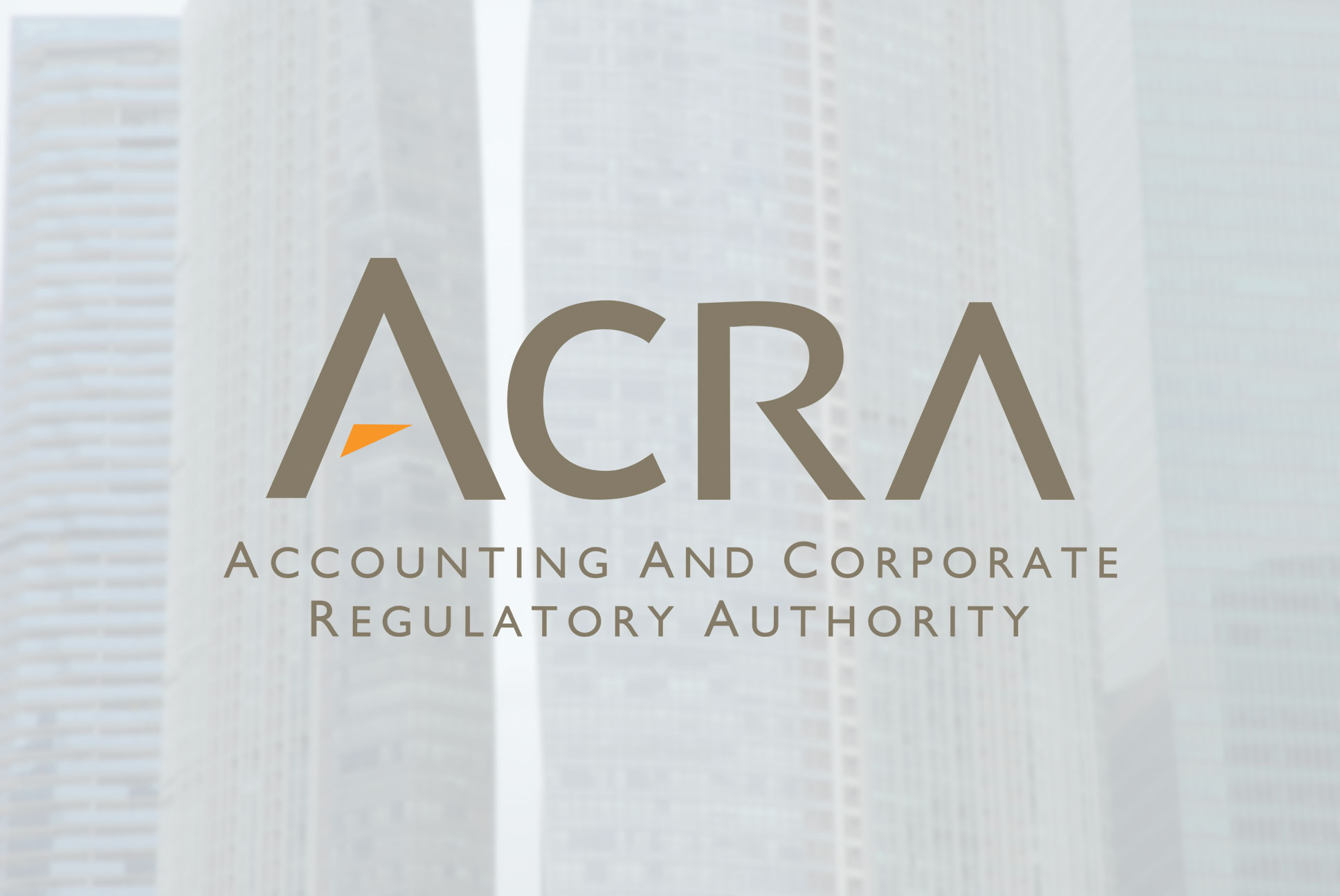 acra logo overlaying corporate buildings concept for small company audit exemptions in Singapore