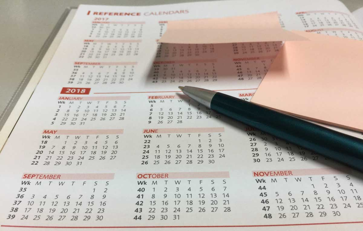 visual calendar representation of dates covered by IRAS Year of Assessment for chargeable income tax
