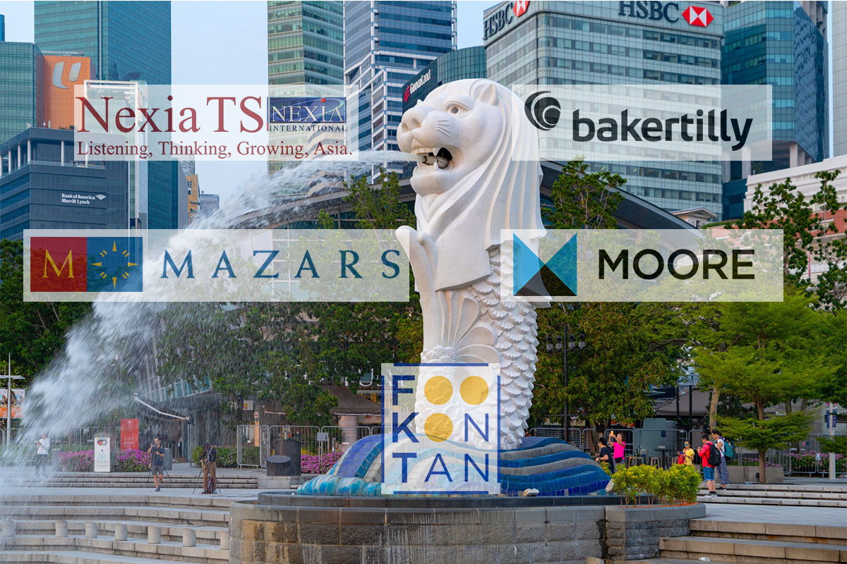 logos of mid tier accounting firms overlaying singapore background